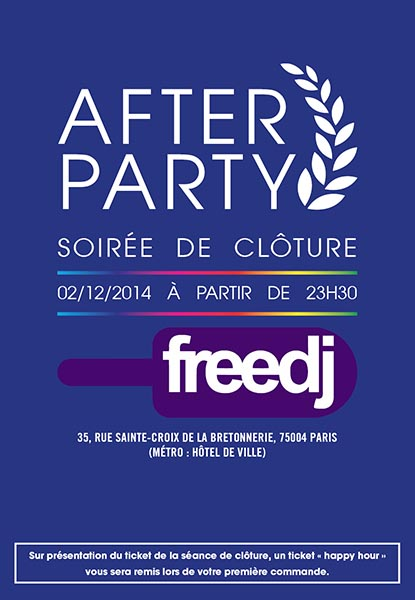 Chéries-Chéris / Flyer soirée After Party Freedj